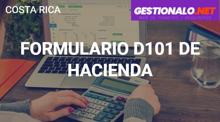 Formulario D101 de Hacienda