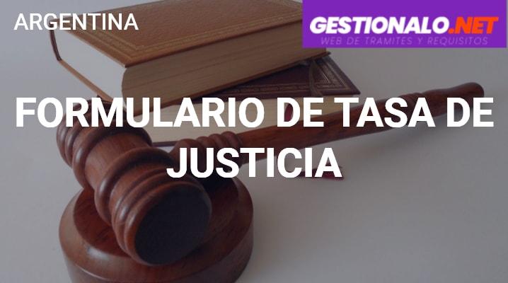Formulario de Tasa de Justicia
