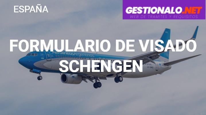 Formulario de Visado Schengen