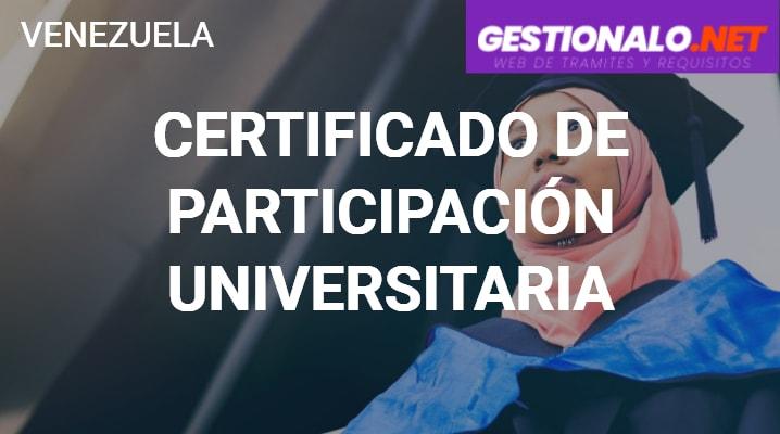 Certificado de Participación Universitaria