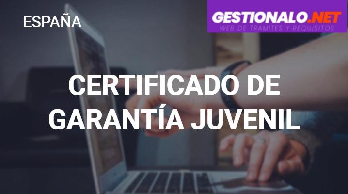 Certificado de Garantía Juvenil