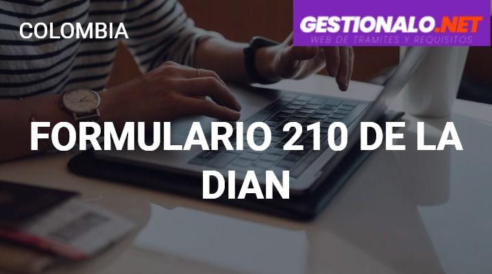 Formulario 210 de la DIAN