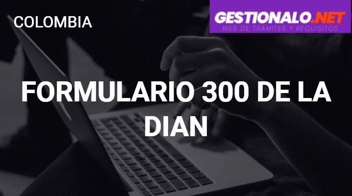 Formulario 300 de la DIAN