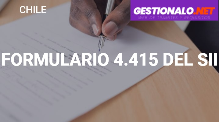 Formulario 4.415 del SII