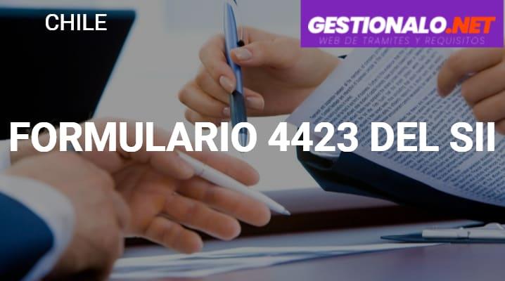 Formulario 4423 del SII