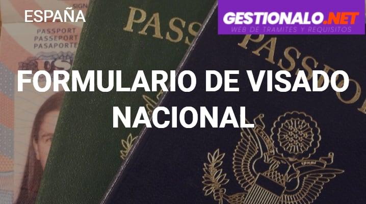 Formulario de Visado Nacional