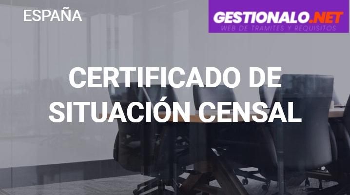 Certificado de Situación Censal