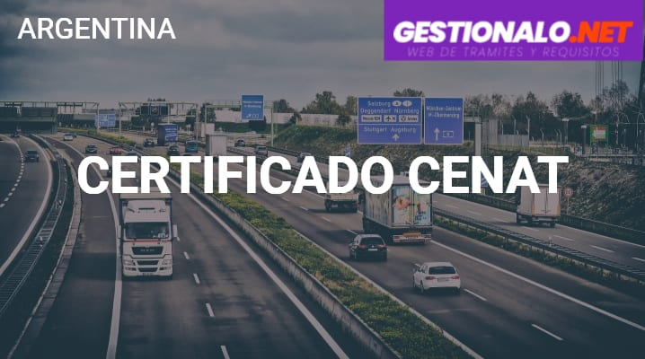 Certificado CENAT