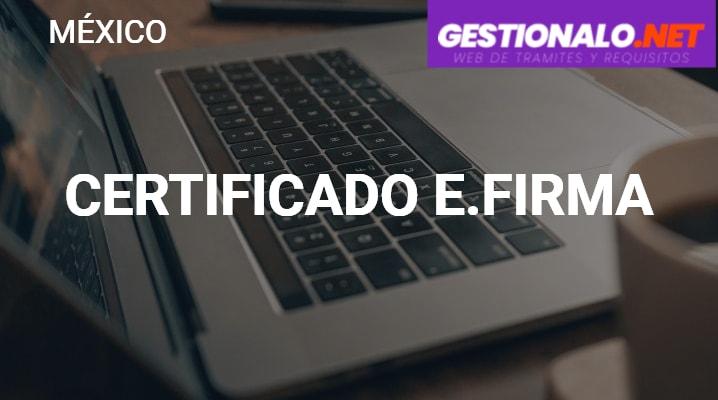 Certificado E.firma