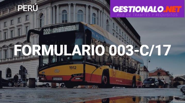 Formulario 003-C/17