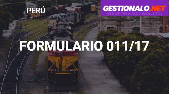 Formulario 011/17