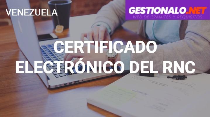 Certificado Electrónico del RNC