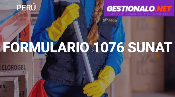 Formulario 1076 SUNAT