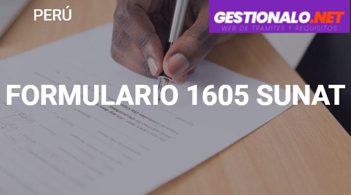 Formulario 1605 SUNAT