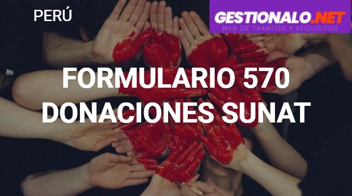 Formulario 570 Donaciones SUNAT