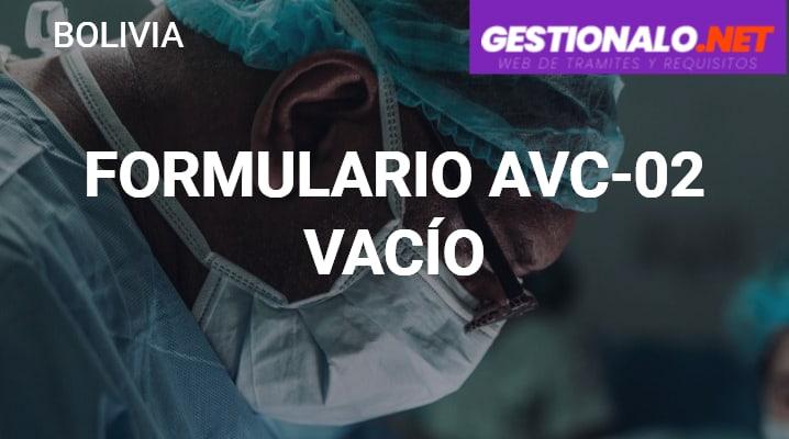 Formulario Avc-02 Vacío