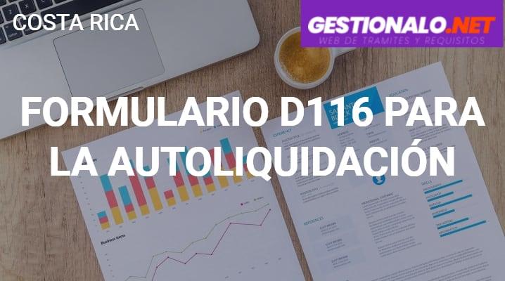 Formulario D116 para la Autoliquidación