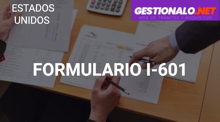 Formulario I-601