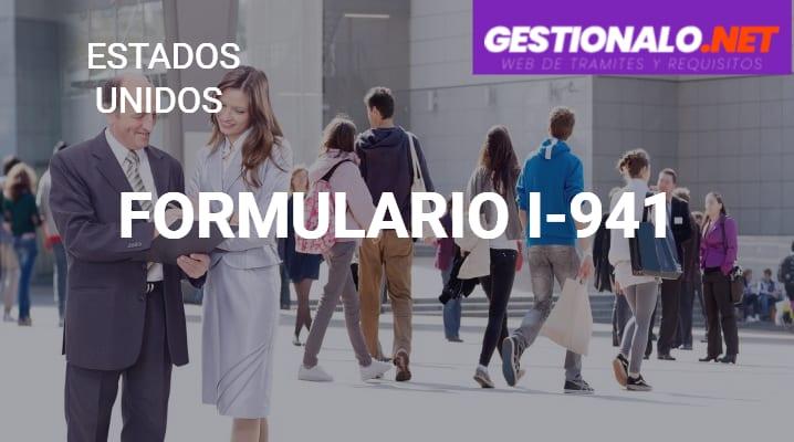Formulario I-941