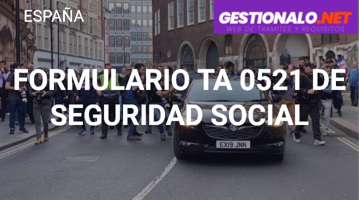Formulario TA 0521 de Seguridad Social