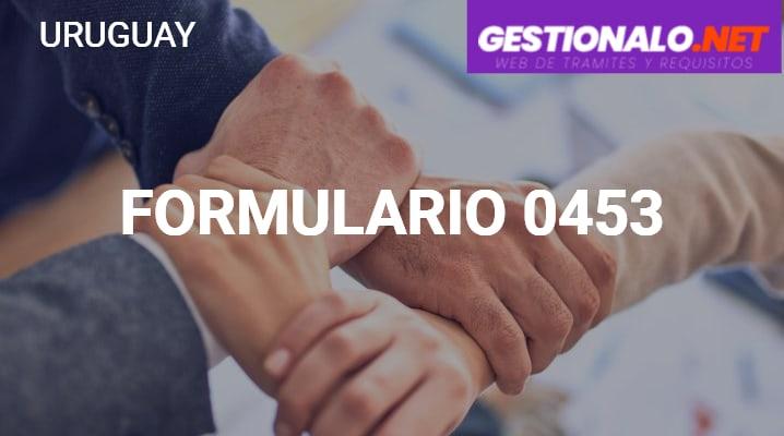 Formulario 0453