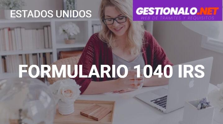 Formulario 1040 IRS