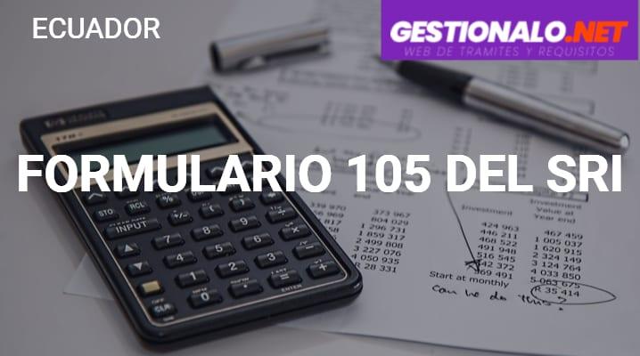 Formulario 105 del SRI