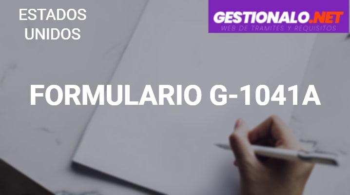 Formulario G-1041A