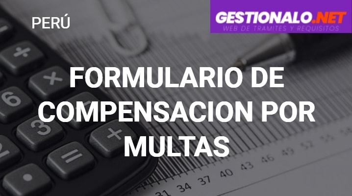 Formulario de Compensación por Multas