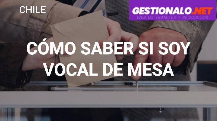 Cómo Saber si Soy Vocal de Mesa