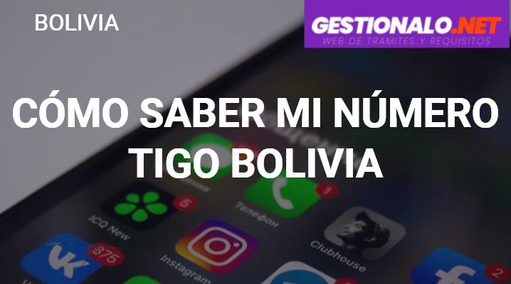 Cómo Saber mi Número Tigo Bolivia